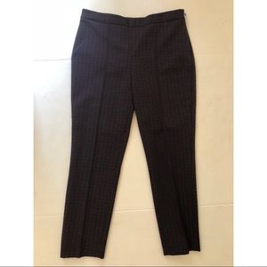 Ann Taylor Front Seam Textured Career Pants